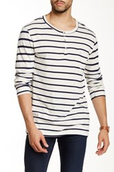 Sol Angeles Striped Long Sleeve Henley Black