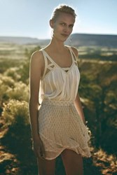 Anthropologie Cutwork Gauze Tank White