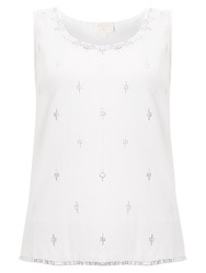 East Sequin Sleeveless Camisole Top White
