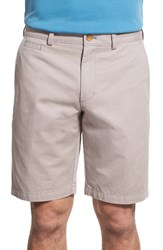 Nordstrom Men's Big And Tall Men's Shop Washed Flat Front Shorts Grey Opal