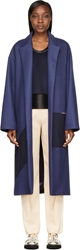 Roksanda Navy Wool Larkin Coat
