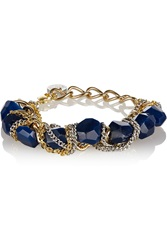 Gemma Redux Gold Plated Resin Bracelet Blue
