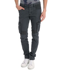 Ikks Mid Grey Unstructured Trousers