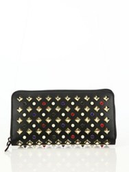 Christian Louboutin Panettone Studded Leather Zip Around Wallet Black Multi