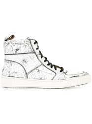 John Varvatos Distressed Hi Tops White