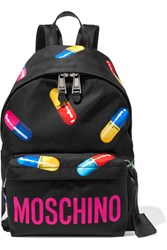 Moschino Printed Shell Backpack Black