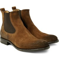 O'keeffe Bristol Distressed Suede Chelsea Boots Brown
