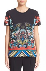 Women's Etro 'Fern' Print Cotton Tee