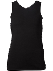 Cedric Charlier Cedric Charlier Frayed Trim Tank Top