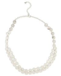 East Mini Textured Disc Necklace