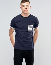 Another Influence Striped T Shirt Navy