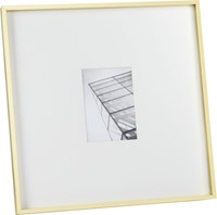 Cb2 Gallery Brass 5X7 Picture Frame