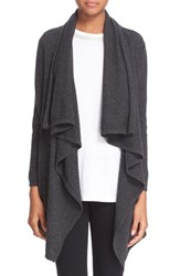 Women's The Kooples Drape Wool And Cashmere Open Cardigan