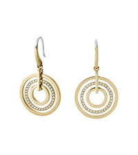Michael Kors Pave Gold Tone Drop Earrings