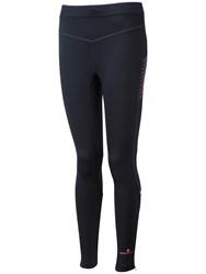 Ronhill Stretch Running Tights Black Fluorescent Pink