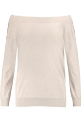 L'agence Sandrine Cotton Silk And Cashmere Blend Sweater Taupe