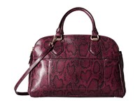 Cole Haan Tali Double Zip Satchel Tawny Port Snake Satchel Handbags Mahogany