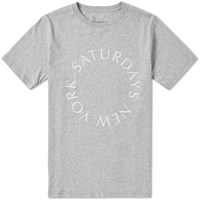 Saturdays Surf Nyc Circle Tee Grey