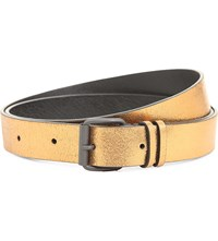 Ann Demeulemeester Metallic Leather Belt Gold