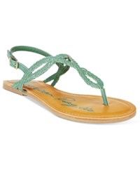 American Rag Keira Braided Flat Sandals Only At Macy's Women's Shoes Watercress
