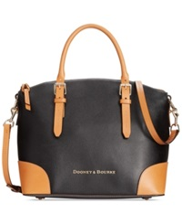 Dooney And Bourke Claremont Domed Satchel Black