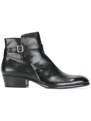 Henderson Baracco Low Heel Buckled Boots Black