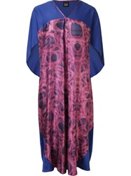 Fernanda Yamamoto Abstract Print Pleated Midi Dress