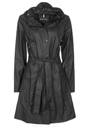 Rains Curve Parka Black