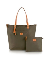 Bric's X Bag Large Foldable Tote Olive Green