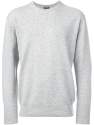 N.Peal 'The Oxford' Round Neck Sweater Grey