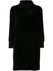 Atm Anthony Thomas Melillo Velvet Effect Sweater Dress Black