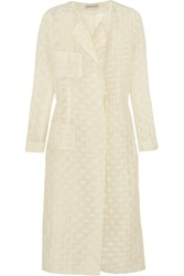 Emilia Wickstead Irune Embroidered Gauze Coat White