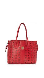 Mcm Shopper Tote Ruby Red