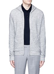 Theory 'Danen H' Zip French Terry Hoodie Grey