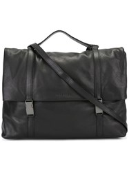 Orciani Top Handle Messenger Bag Black