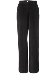 Aalto High Waisted Wide Leg Trousers Black