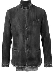 Avant Toi Distressed Buttoned Jacket Green