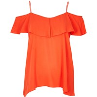 River Island Womens Red Tiered Bardot Cami