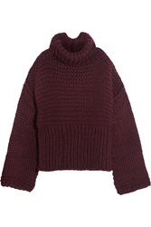 Acne Studios Gaja Oversized Chunky Knit Sweater Red