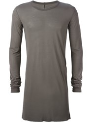 Rick Owens Long Length T Shirt Grey