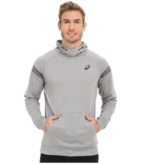 Asics Sanded Hoodie Heather Grey Men's Sweatshirt Gray
