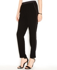 Sanctuary Contrast Detail Track Pants Black