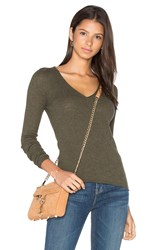 360 Sweater Linde V Neck Olive