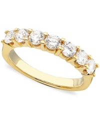 Macy's Seven Diamond Band Ring In 14K Yellow Or White Gold 1 Ct. T.W. Yellow Gold