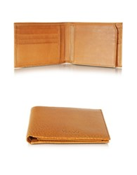 Pineider Country Cognac Leather Billfold Wallet W Flap