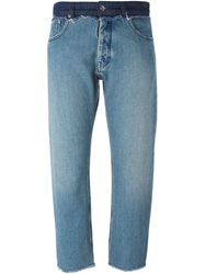 Mm6 Maison Margiela Cropped Slim Jeans Blue