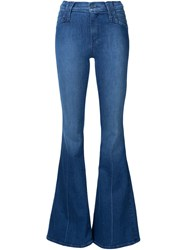Mother Flared Jeans Blue