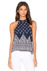 Band Of Gypsies Halter Tank Navy