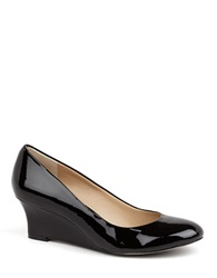 Arturo Chiang Arora Patent Leather Wedges Black