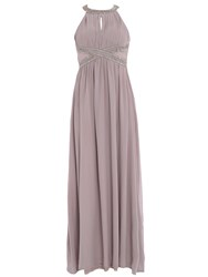 Chase 7 Bead Embellished Maxi Dress Grey